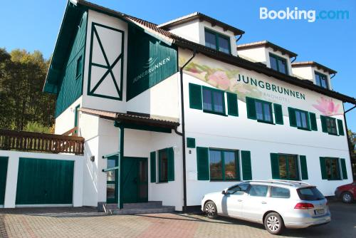 Best location and terrace in Bad Brambach for solo travelers