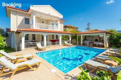 Family friendly apartment with swimming pool.