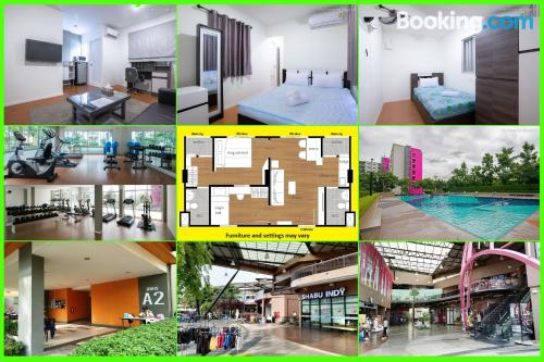 2 bedrooms home in Ban Talat Rangsit for families.