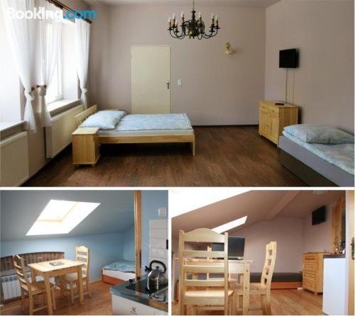 Nowy Targ from a great location. Baby friendly home!