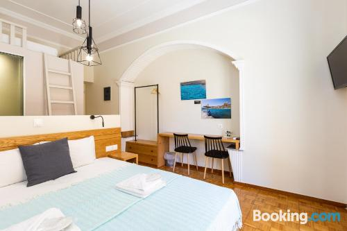 Home for families in Rethymno Town with wifi.