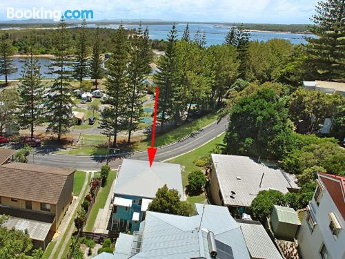 Place in Yamba. Animals allowed