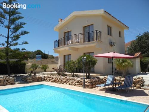 Place with terrace and swimming pool