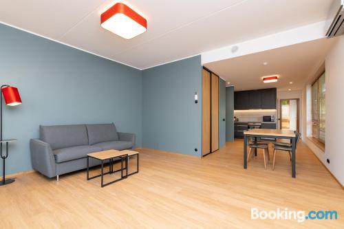 Apartamento con aire acondicionado con internet.