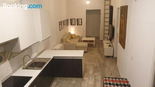 Two rooms, incredible location good choice for groups.
