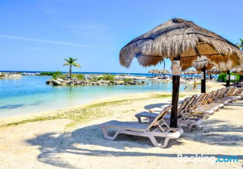 Pool and internet apartment in Puerto Aventuras with terrace