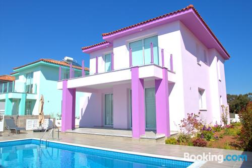 Villa Pink near beach with swimming pool