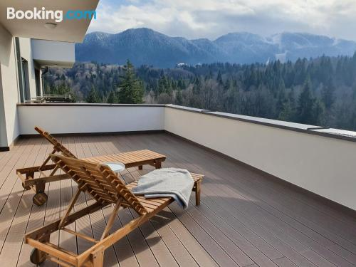 1 bedroom apartment with terrace and internet.