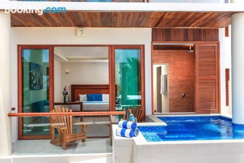 Home for two people in Mahahual with pool and terrace