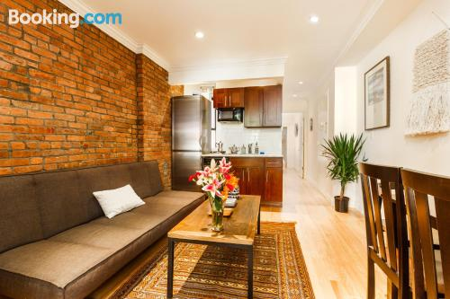 Two bedroom apartment in New York. Ideal for groups