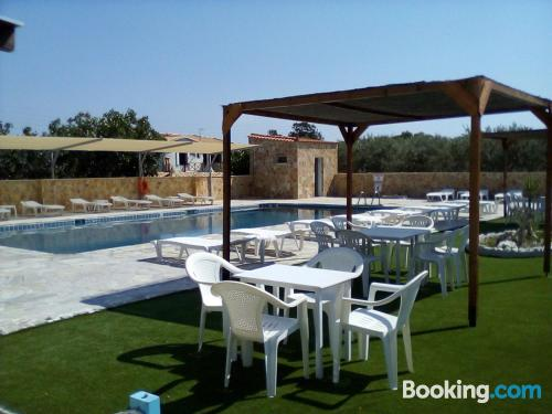 Apartment for two people. Enjoy your pool in Souvala!