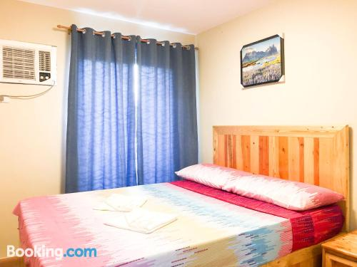 Two bedrooms place with pool.