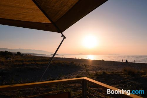 Stay cool: air home in Rethymno Town for two.