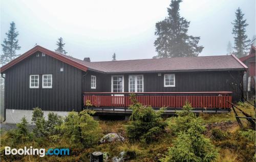 130m2 place in Sjusjøen. Convenient for 6 or more