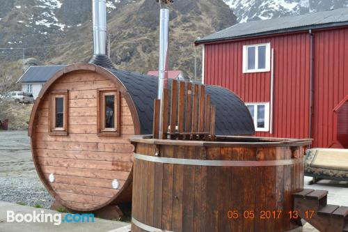 Place for two people in Ballstad in downtown