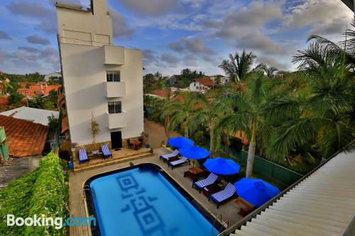 Terrace and internet place in Negombo for 2 people
