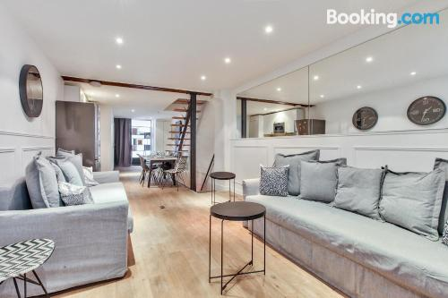 Apartment in Paris good choice for groups.
