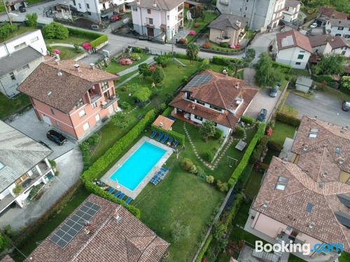 Swimming pool and internet place in Colico. Totally amazing location