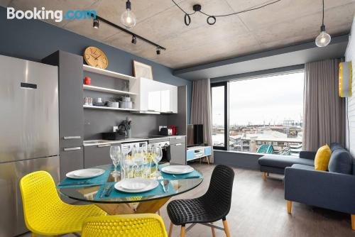 Apartment for couples with terrace and internet.