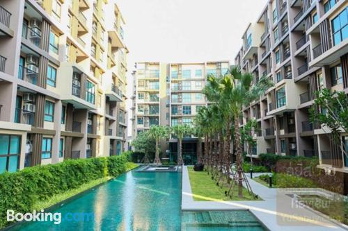 One bedroom apartment home in Phuket Town with swimming pool.