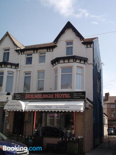 Home in Blackpool with heating