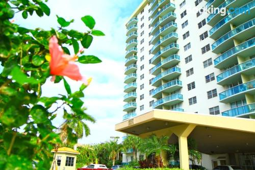 Be cool, there's air-con! Sunny Isles Beach from your window!