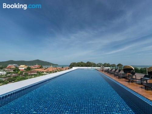 Home in Bang Sare with pool and terrace.