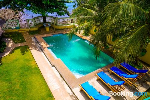 Place in Dauin with terrace and pool.
