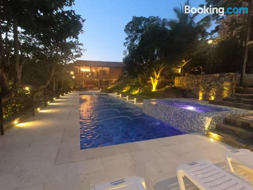 Perfect apartment with terrace and swimming pool.
