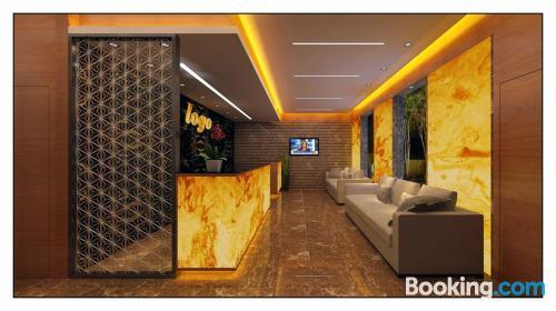 Ideal apartamento de una habitación con vistas y internet.