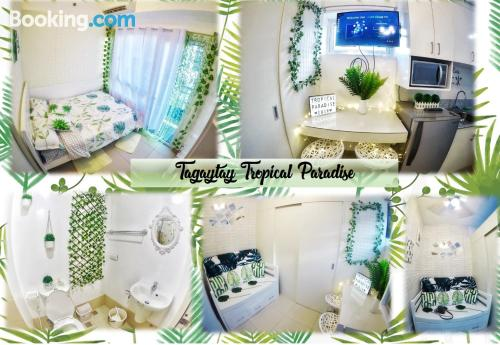 Swimming pool and internet home in Tagaytay with terrace.
