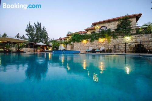 One bedroom apartment apartment in Rosh Pinna with terrace and swimming pool.