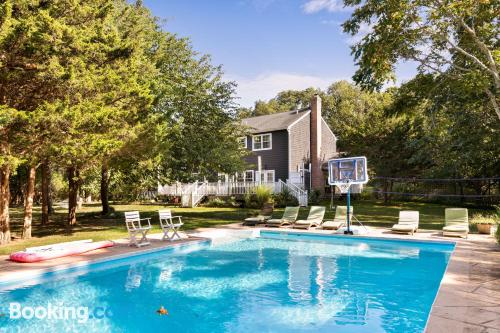 Place in East Hampton with pool.