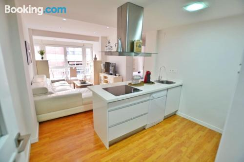Tiny apartment in perfect location for six or more.