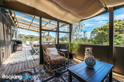 Place for six or more in Oneroa with terrace!.