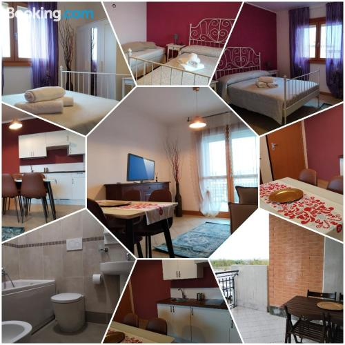 One bedroom apartment place in Rome good choice for groups.