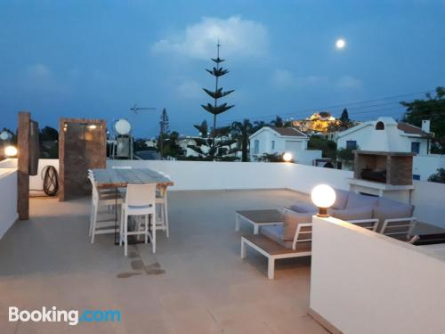 Stay cool: air home in Protaras with internet and terrace.