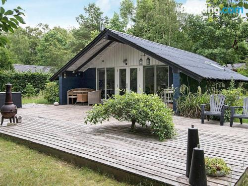 Home with terrace. Fårvang is yours!