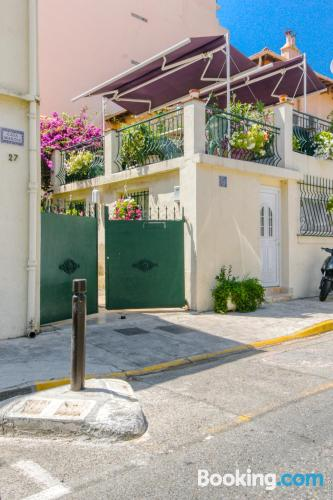 Terrace and internet home in Antibes. Good choice for solo travelers