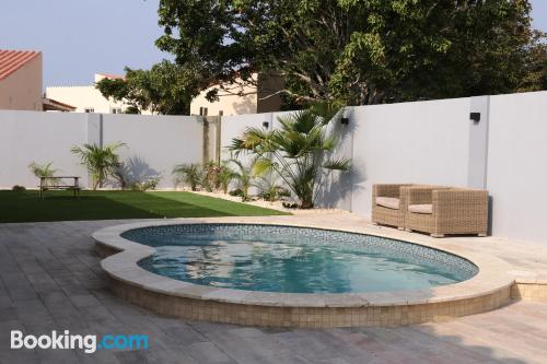 Home with terrace. Enjoy your pool in Oranjestad!