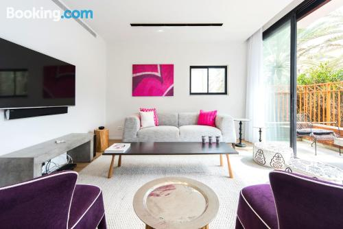 Stay in Tel Aviv. Convenient for solo travelers