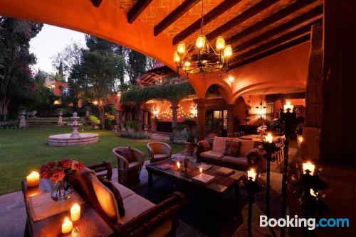 Bonito apartamento en San Miguel de Allende con terraza y wifi
