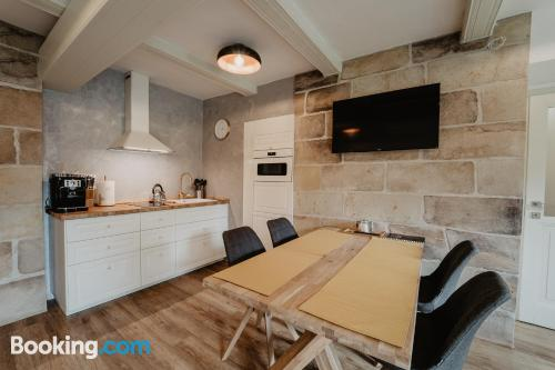 One bedroom apartment in Arnoltice u Decina with heating