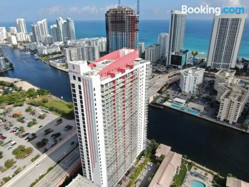 Hallandale Beach home with terrace!.