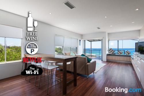 120m2 home in Coolum Beach with internet.