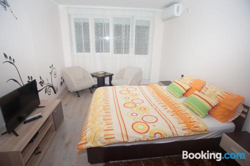 Apartamento con aire acondicionado y terraza