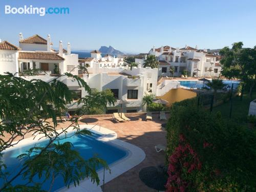 2 rooms apartment in Alcaidesa with terrace.