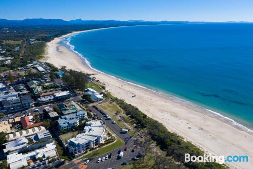 Home for 6 or more in Byron Bay with pool.