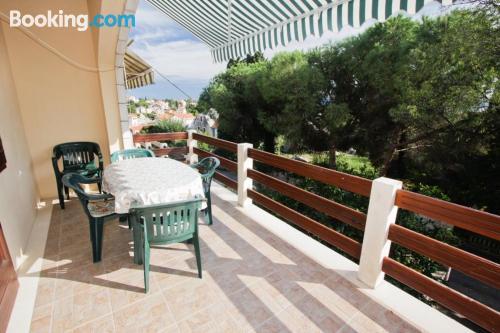 Large, amazing location. Enjoy your terrace