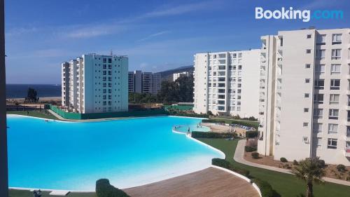 Amplio apartamento en Papudo con piscina